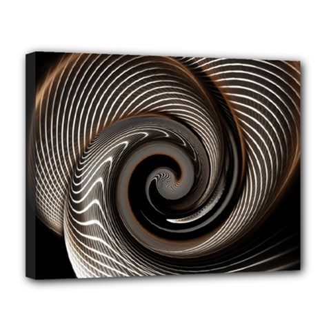Abstract Background Curves Canvas 14  X 11