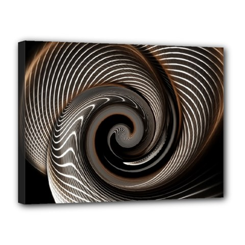 Abstract Background Curves Canvas 16  X 12