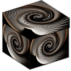 Abstract Background Curves Storage Stool 12