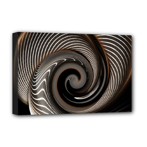 Abstract Background Curves Deluxe Canvas 18  X 12