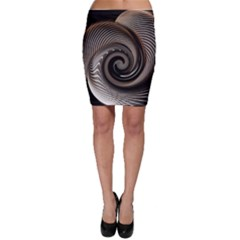 Abstract Background Curves Bodycon Skirt