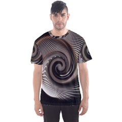 Abstract Background Curves Men s Sport Mesh Tee