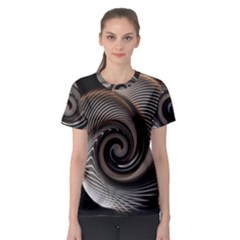 Abstract Background Curves Women s Sport Mesh Tee