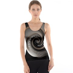 Abstract Background Curves Tank Top
