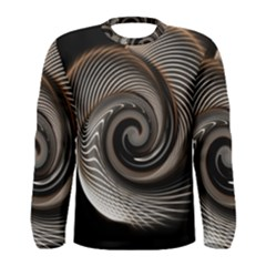 Abstract Background Curves Men s Long Sleeve Tee