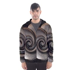 Abstract Background Curves Hooded Wind Breaker (men)
