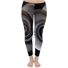 Abstract Background Curves Classic Winter Leggings