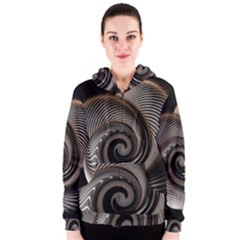 Abstract Background Curves Women s Zipper Hoodie