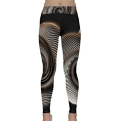 Abstract Background Curves Classic Yoga Leggings
