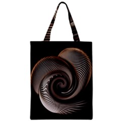 Abstract Background Curves Zipper Classic Tote Bag