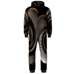 Abstract Background Curves Hooded Jumpsuit (men)