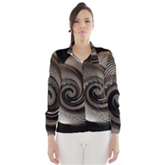 Abstract Background Curves Wind Breaker (women)