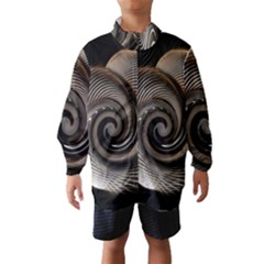 Abstract Background Curves Wind Breaker (Kids)