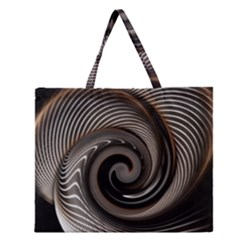 Abstract Background Curves Zipper Large Tote Bag