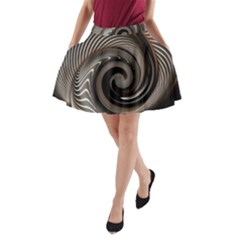 Abstract Background Curves A-Line Pocket Skirt