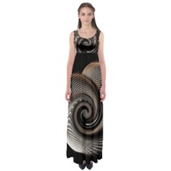 Abstract Background Curves Empire Waist Maxi Dress