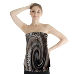 Abstract Background Curves Strapless Top