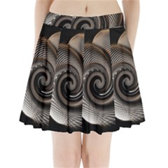 Abstract Background Curves Pleated Mini Skirt
