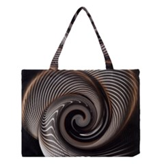 Abstract Background Curves Medium Tote Bag