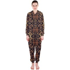 Tribal Geometric Print Hooded Jumpsuit (Ladies)