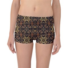 Tribal Geometric Print Reversible Bikini Bottoms
