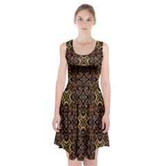 Tribal Geometric Print Racerback Midi Dress