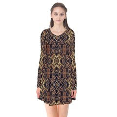 Tribal Geometric Print Flare Dress
