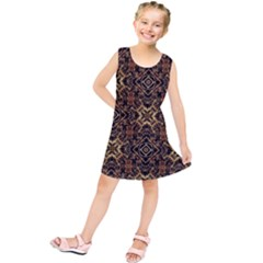 Tribal Geometric Print Kids  Tunic Dress