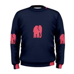Animals Elephant Pink Blue Men s Sweatshirt
