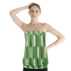 Arrows Green Strapless Top