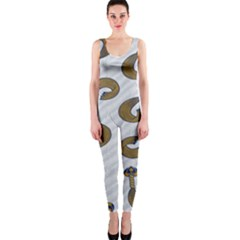 African Fabric Hair Wave Chevron Onepiece Catsuit