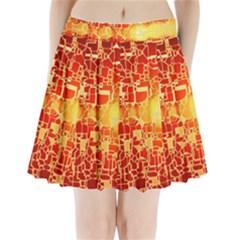 Board Conductors Circuit Pleated Mini Skirt