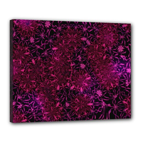 Retro Flower Pattern Design Batik Canvas 20  X 16