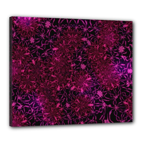 Retro Flower Pattern Design Batik Canvas 24  X 20