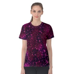 Retro Flower Pattern Design Batik Women s Cotton Tee