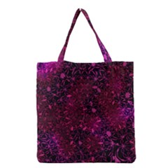 Retro Flower Pattern Design Batik Grocery Tote Bag
