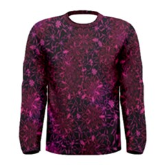 Retro Flower Pattern Design Batik Men s Long Sleeve Tee