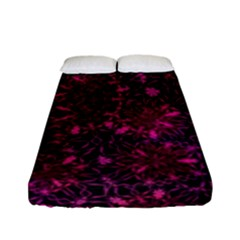 Retro Flower Pattern Design Batik Fitted Sheet (full/ Double Size)