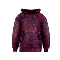 Retro Flower Pattern Design Batik Kids  Pullover Hoodie