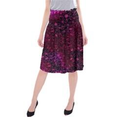 Retro Flower Pattern Design Batik Midi Beach Skirt