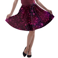 Retro Flower Pattern Design Batik A-line Skater Skirt
