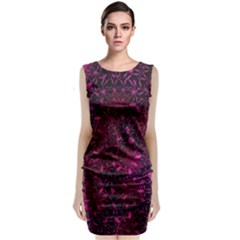Retro Flower Pattern Design Batik Classic Sleeveless Midi Dress