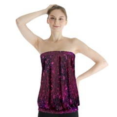 Retro Flower Pattern Design Batik Strapless Top