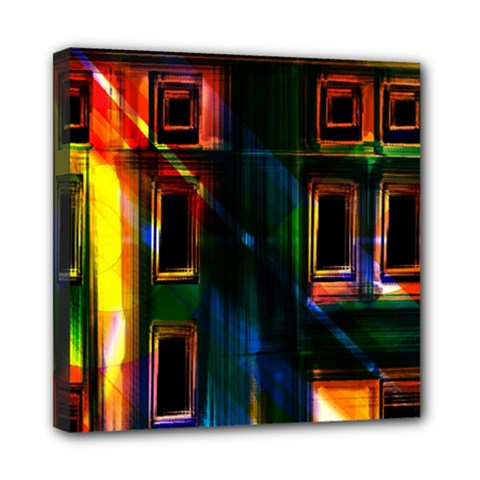 Architecture City Homes Window Mini Canvas 8  X 8