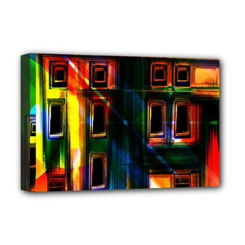 Architecture City Homes Window Deluxe Canvas 18  x 12