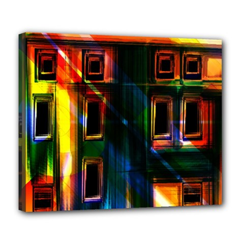 Architecture City Homes Window Deluxe Canvas 24  X 20