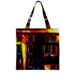 Architecture City Homes Window Grocery Tote Bag