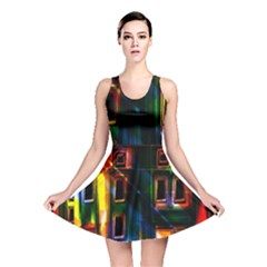 Architecture City Homes Window Reversible Skater Dress