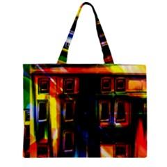 Architecture City Homes Window Zipper Mini Tote Bag