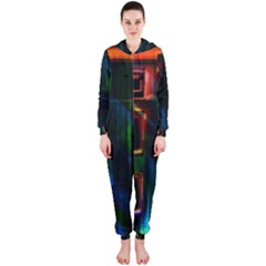 Architecture City Homes Window Hooded Jumpsuit (ladies)